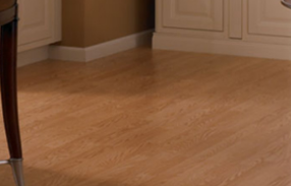 Beige laminate flooring